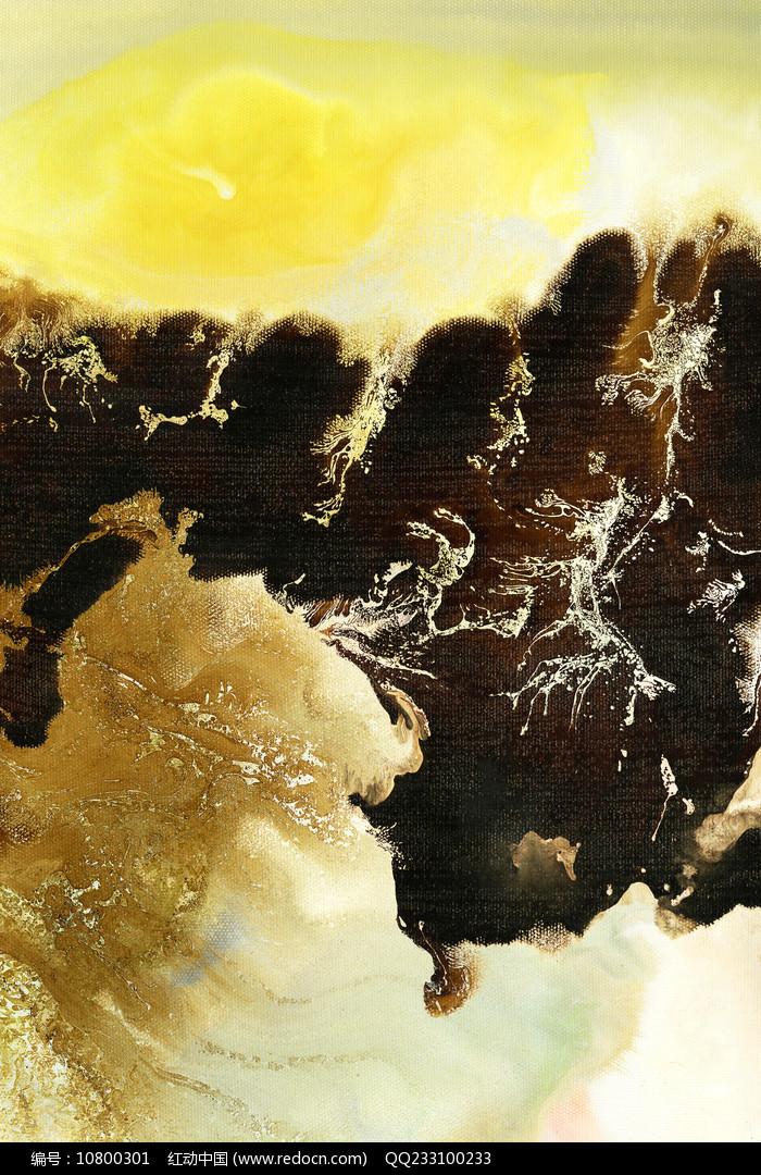 复古水墨壁画 图片