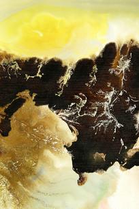 复古水墨壁画