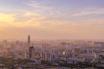 济南城市日落