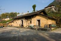 中国中西部重庆巫山农村土房
