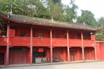 成都石经寺红墙的僧房
