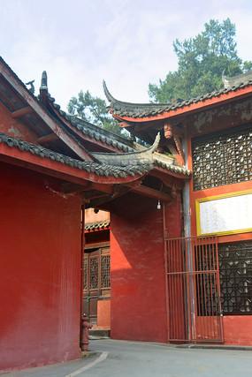 成都石经寺红墙门楼