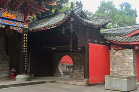 成都石经寺中式垂花门和月亮门