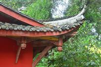 成都石经寺中式建筑飞檐