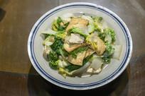 黄心菜炒豆腐