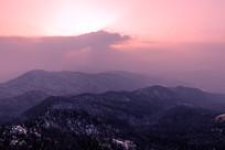 鸡公山日落