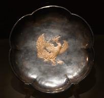鎏金鸾鸟纹六曲银盘