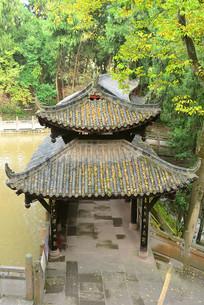 水坝的中式长廊