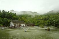 天星桥景区高老庄和天星湖喷泉