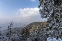 雪后鸡公山