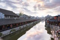 枫泾古镇的水巷
