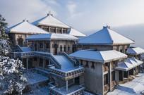 鸡公山博物馆雪景
