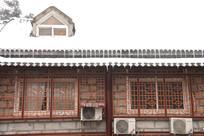 鸡公山老建筑雪景