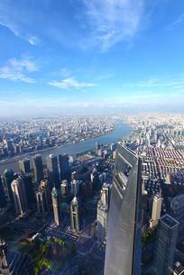 俯瞰上海城市全景