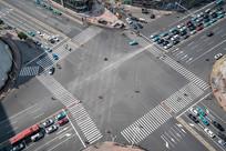 中国天津的十字路口