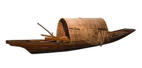 长江三峡古老的打鱼船白底抠图
