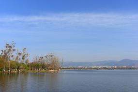 西昌邛海湖泊及湿地自然风光
