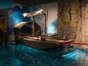 重庆中国三峡博物馆展品木帆船