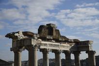 古罗马建筑顶部