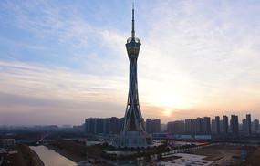 郑州地标建筑中原福塔风光