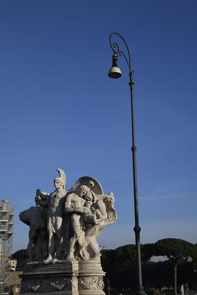 罗马街头文艺复兴时期雕像
