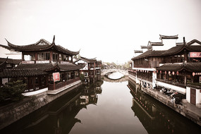 上海七宝古镇的旧照片