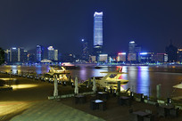 夜晚的上海北外滩风光