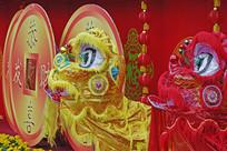 中国元素广东传统舞狮