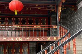 成都洛带古镇湖广会馆戏楼楼梯