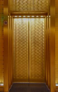 金色的电梯门