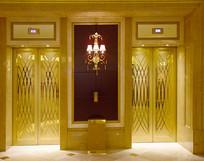 金色的豪华电梯