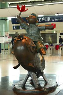 骑金鱼的红卫兵新波普艺术雕塑