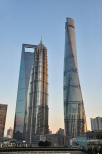 上海陆家嘴金融区的摩天大楼