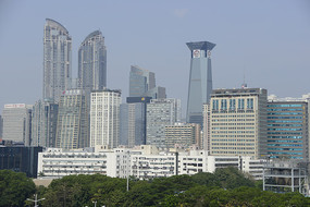 深圳车公庙地区城市建筑群