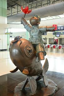 香港落马洲口岸新波普艺术雕塑