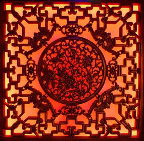 中式传统风格的窗棂花纹