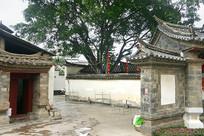 云南建水古城朱家花园庭院