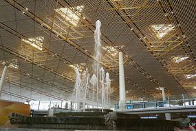 北京机场仿皇家园林喷泉