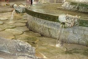 北京机场仿皇家园林喷泉石刻