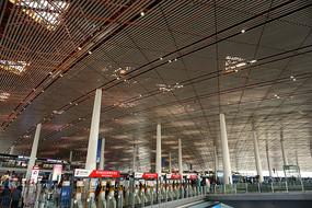 北京首都国际机场航站楼出发厅