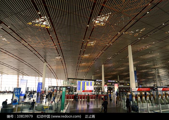 北京首都国际机场航站楼内景图片