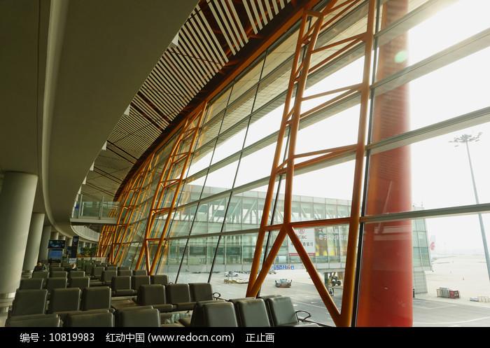 北京首都机场候机厅钢结构幕墙 图片