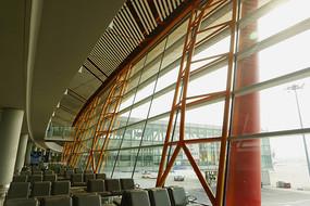 北京首都机场候机厅钢结构幕墙