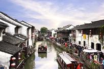 苏州山塘街水巷