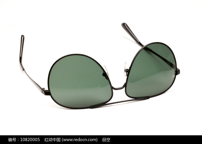 现代时尚的户外用品绿色太阳镜图片