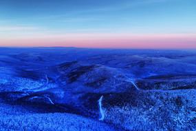 大兴安岭冬季原始森林冰雪风光