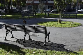 公园长条椅