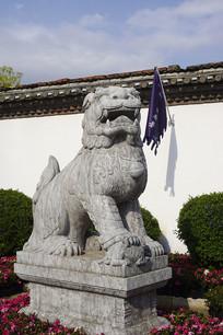 建水古城临安府署-石狮