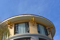 西昌邛海畔宾馆牛角造型装饰