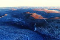 雪域山林朝阳晨光
